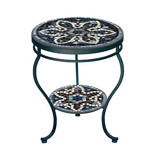 Grigio Double-tiered Side Table