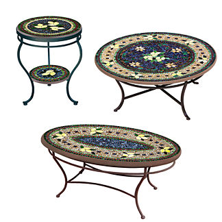 Tuscan Lemons Double-Tiered Side Table