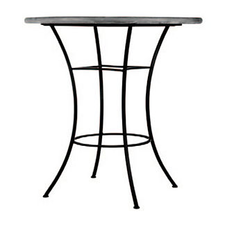 Black Olives Round High Dining Table