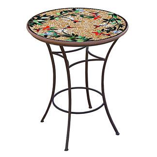 Caramel Hummingbird Round High Dining Table