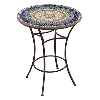 Caribbean Sea Round High Dining Table