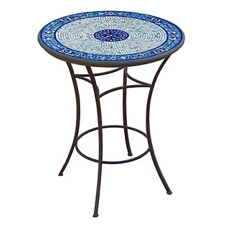 Seafoam Atlas Round High Dining Table