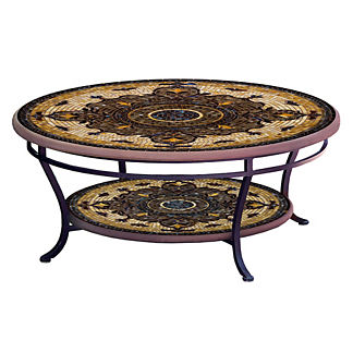 Almirante Round Double-Tiered Coffee Table