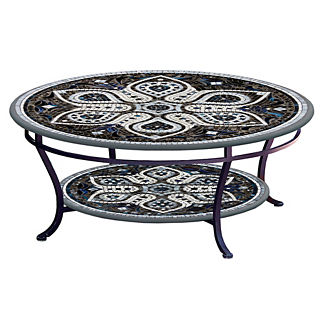 Grigio Round Double-tiered Coffee Table