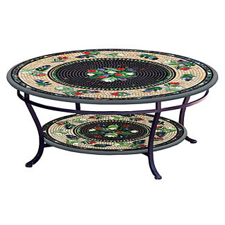Maritz Round Double-Tiered Coffee Table