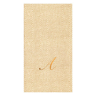 Caspari Jute Paper Linen Guest Towels, Set of 24