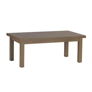 Club Rectangular Coffee Table in Oyster by Summer Classics