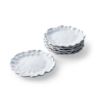 Set of Six Peony Salad Plates