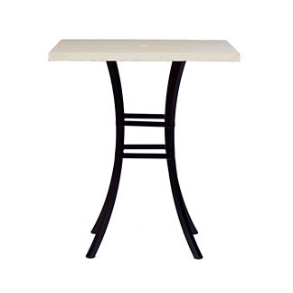Skye Faux Travertine Bar Table by Summer Classics