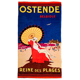 Vintage Postcard Beach Towel