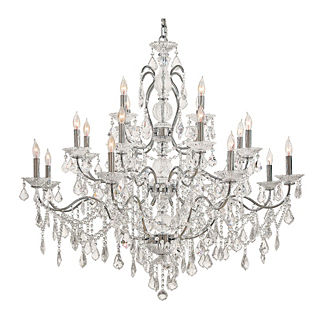 Vintage Crystal 20-Light Chandelier