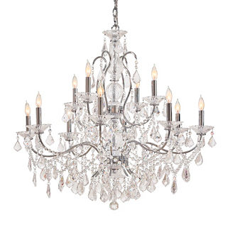 Vintage Crystal Small 12-Light Chandelier