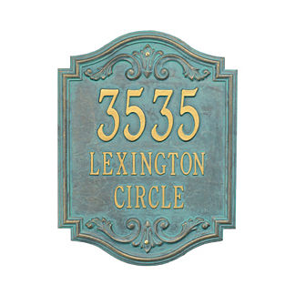 Beaumont Wall Address Plaque