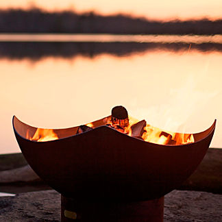 Manta Ray Fire Pit by Firepit Art