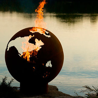 Third Rock Fire Pit by Firepit Art