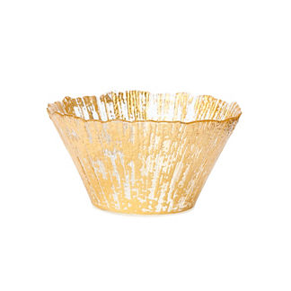 Vietri Ruffle Glass Deep Bowls, Set of Four