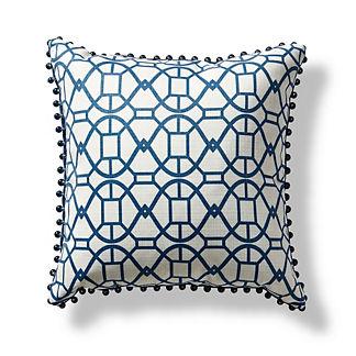 Bridgetown Beaded Lattice Decorative Pillow