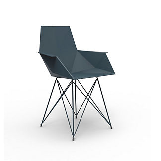Vondom Faz Arm Chair with Stainless Steel Base