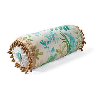 Beaded Ocean Bolster Pillow