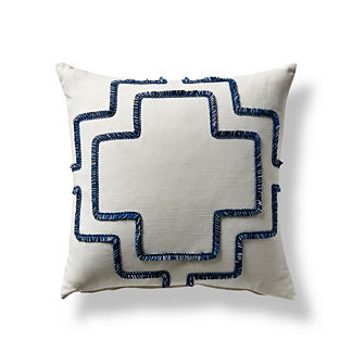 Brush Fringe Trellis Pillow