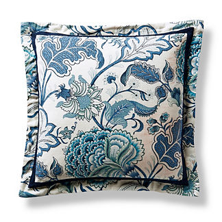 Coastal Floral Flanged Pillow