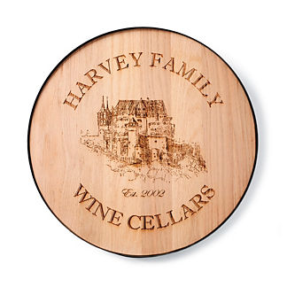 Wine Room Plaque and Lazy Susan