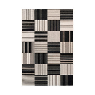 Patchwork Stripe Outdoor Rug
