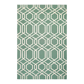 Geometric Lattice Outdoor Rug