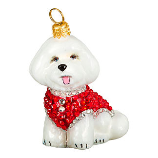 Diva Dog Bichon in Crystal Coat Ornament