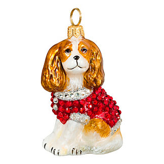 Diva Dog Cavalier King Blenheim in Crystal Coat Ornament