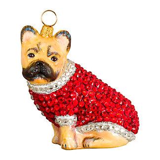 Diva Dog French Bulldog Cream in Crystal Coat Ornament