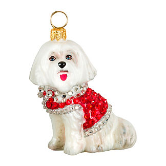 Diva Dog Maltese in Crystal Coat Ornament