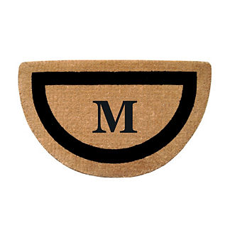 Classic Border Half-round Monogrammed Mat