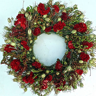 Berry and Celosia Wreath