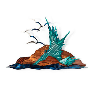 Crashing Waves Wall Art by Copper Art