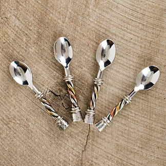 Set of Four Trio Condiment Spoons