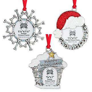 Pet Christmas Photo Ornaments, Set of Three