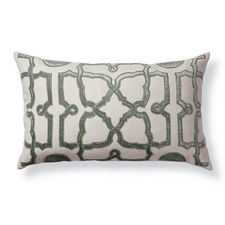 Velvet Trellis Decorative Pillow