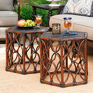 Tommy Bahama Black Sands Bunching Cocktail Table