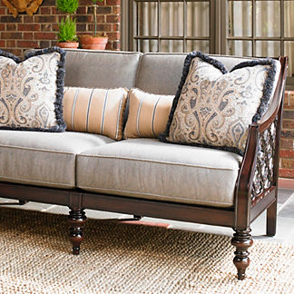 Tommy Bahama Black Sands Loveseat with Cushions