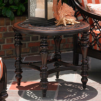 Tommy Bahama Black Sands Round End Table