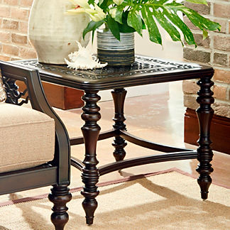 Tommy Bahama Black Sands Square End Table