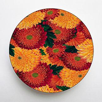 Set of Six Mums Melamine Dinner Plates