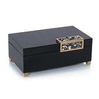 Black Box with Silver Stone Accent