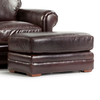 Portland Leather Ottoman