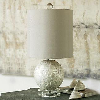 Mini Capiz Shell Lamp
