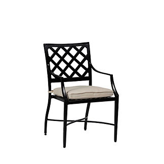 Lattice Arm Chair with Cushion by Summer Classics