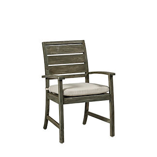 Charleston Teak Arm Chair with Cushion by Summer Classics