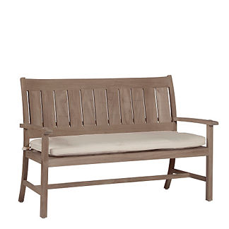 Club Teak Bench with Cushion by Summer Classics