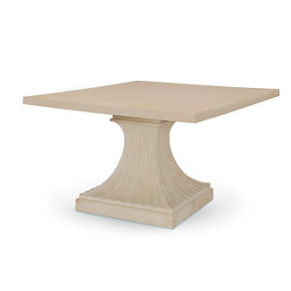 Square Fluted Pedestal Dining Table